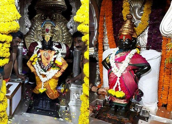 Shri Vitthal and Rukmini at Pandharpur
